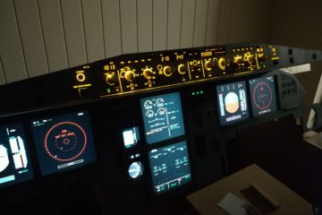 Jeehell FMGS in my A320 home cockpit with FCU backlighted